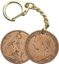 Victorian Penny Coin Keyring